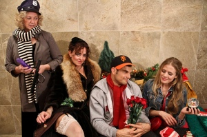 Carolyn Ford, Lily Sauvage, Greg Crane and Amber Crane in 3GT's 2012 holiday showcase, 3Girls Squared