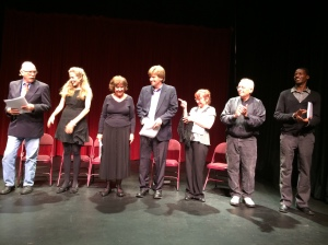 Members of the cast of HENRIETTA ENGLISH take a bow